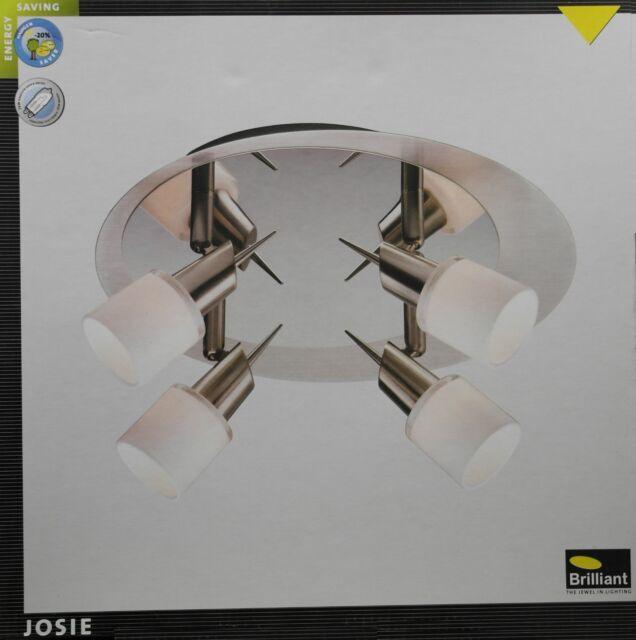 BRILLIANT JOSIE Deckenleuchte Deckenlampe Chrom 4-flg. Metall/Glas Ø ca. 19 cm