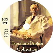 Theodore Dreiser Audiobook Collection in English on 1 MP3 DVD Free Shipping
