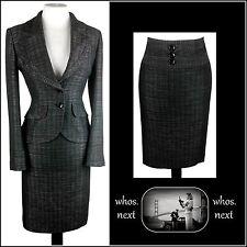 52 NEXT 10 12 Nero Bianco 40s 50s Stile Vintage Gonna Longuette Donna Tuta Womans