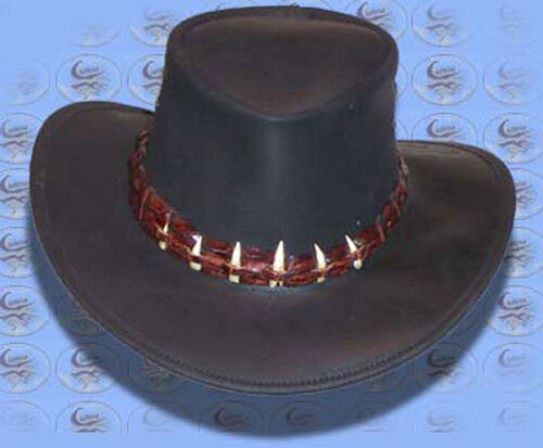 AUSSIE Made LEATHER HAT Crocodile DUNDEE by by by CUTANA HAT f15789