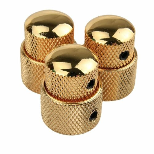 3pcs Dual Concentric Stacked Control Knobs Gold Set Electric Guitar Bass Part