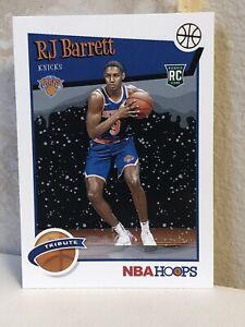 2019-20-NBA-Hoops-Rookie-Tribute-298-RJ-Barrett-RC-Holiday-Snow-Winter-Knicks
