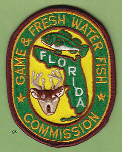 Florida game and fresh water fish commision shoulder patch for Florida game and fish