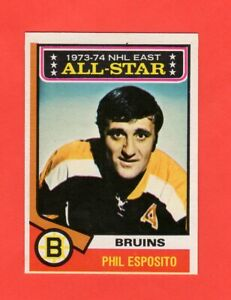 1974-75-O-Pee-Chee-OPC-129-Phil-Esposito-As-nrmnt-mt
