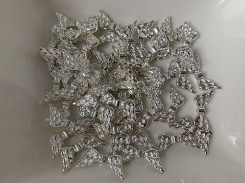 50 ala de ángel alas Hell plata 20 x 9 mm metal perla spacer perlas v310