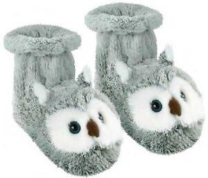 Aroma Home Diversión Para Los Pies Zapatillas Calcetines Botas Uk Size 4-7 - Búho de nieve
