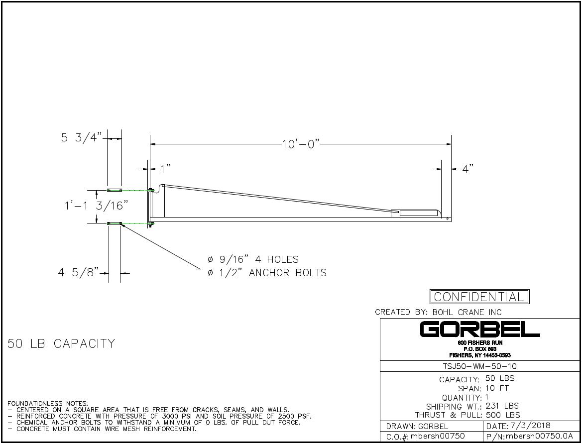 gorbel tool solutions jib crane wall mounted 50 lb capacity ebay rh ebay com