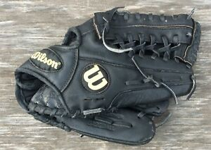 Wilson-Youth-Baseball-Glove-12-034-Black-Leather-A450-For-Right-Handed-Thrower