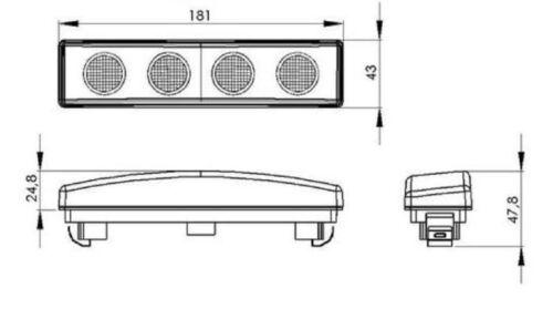 2X Cabina Techo Blanco 24V Led Visera Luces para Scania R P G T Oem Recambio C8