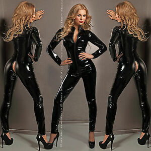 CATSUIT-OVERALL-ANZUG-CLUBWEAR-LACK-GOGO-BODY-GROssE-S-M-L-XL-36-38-40-42