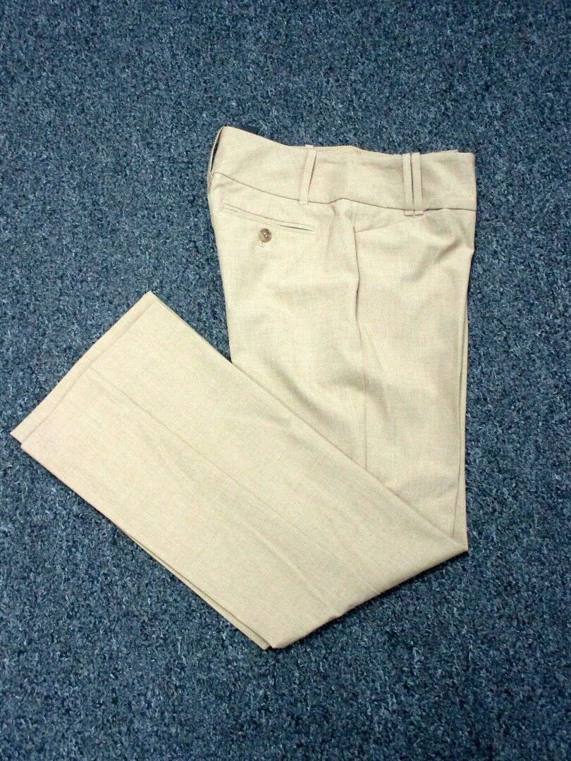 THE LIMITED Tan Plate Zip Front solide poches Cassidy fit Pantalon Neuf Avec Étiquettes Sz 2 S DD3933