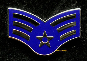 SERGEANT-E-4-RANK-HAT-LAPEL-PIN-UP-US-AIR-FORCE-INSIGNIA-ENLISTED-SGT-VETERAN