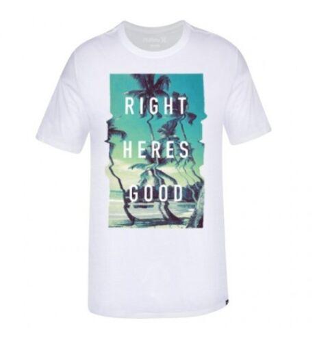 Hurley Men/'s Right Here/'s Good Nike Short Sleeve Premium Tee Shirt