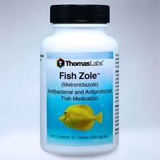 Fish Zole 60 tablets 250 mg Thomas Labs Aquarium Infections Treatment