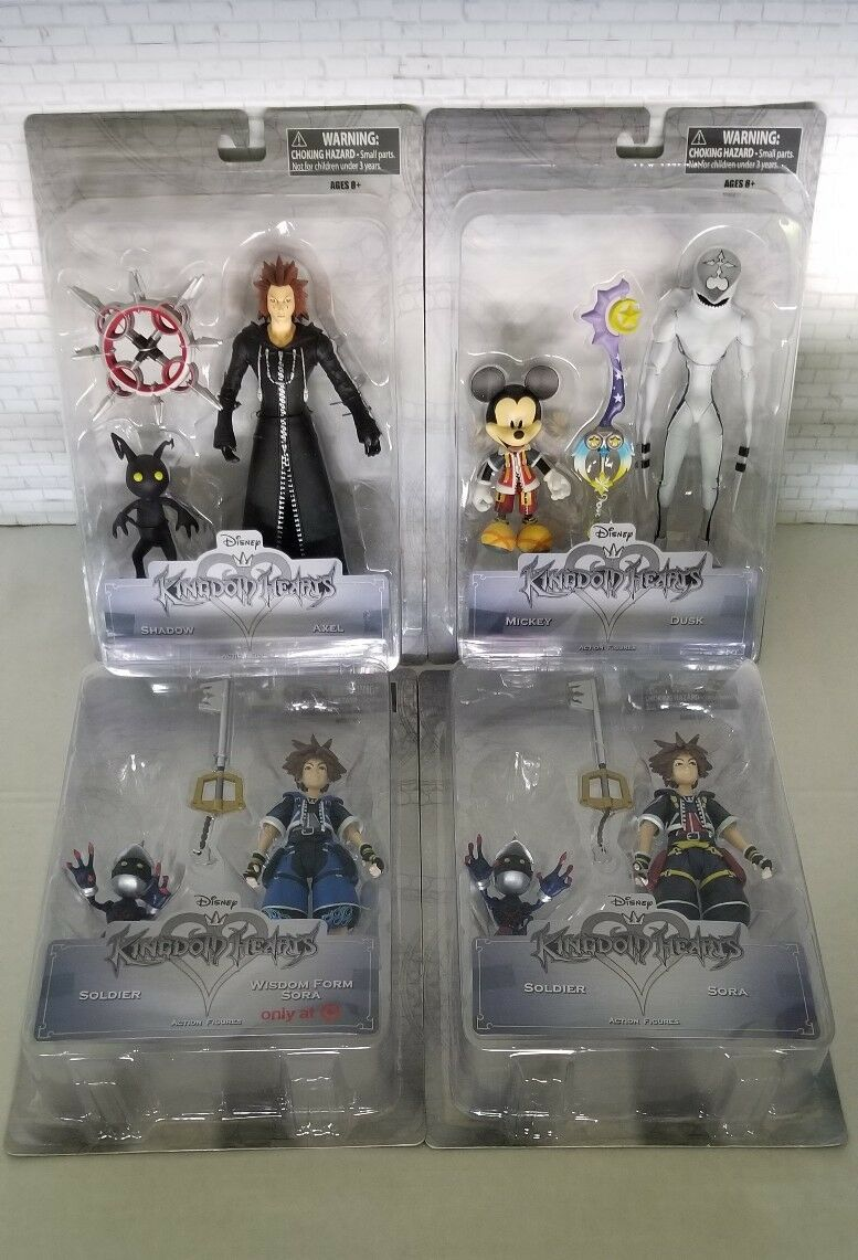 NEW complete set 1&2. Kingdom Hearts Action Figure Set Diamond Select Toys