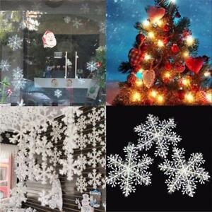 30PCS-Bianco-Natale-Fiocchi-Di-Neve-Decorazioni-Festa-Albero-Natale-Ornamenti-UK