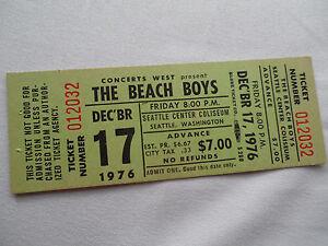 BEACH-BOYS-Original-1976-UNUSED-CONCERT-TICKET-Seattle-EX