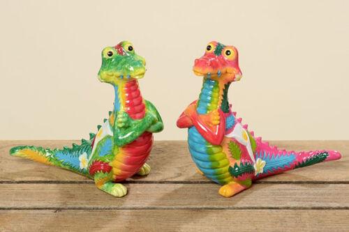 556880 Krokodil Namik 2er-Set 16 cm Gartendekoration Gartendeko Tierfigur Deko