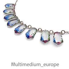 Art Deco Silber Halskette Rheinkiesel 30er Jahre Rhinestone silver necklace