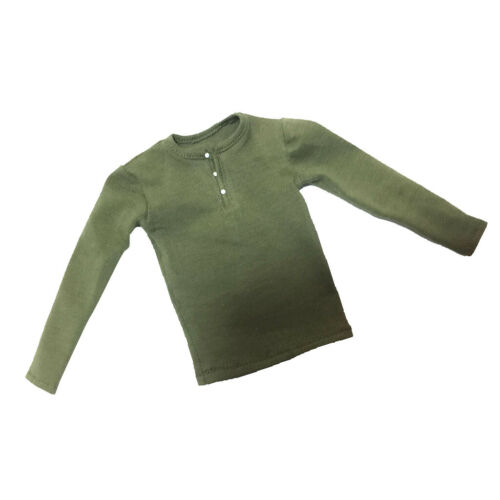 1//6 Green Long Sleeve Tee Top Fit 12/'/' Hot Toys TC Dragon BBI Male Action Figure