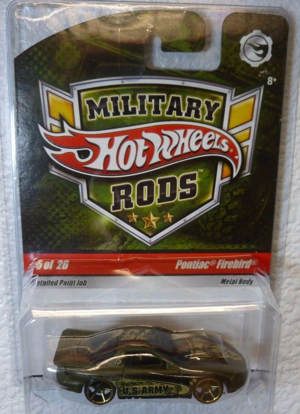 Difficile à trouver militaire 2009 RODS Hot Wheels Pontiac Firebird  5 26 in (environ 66.04 cm) Prougeecteur