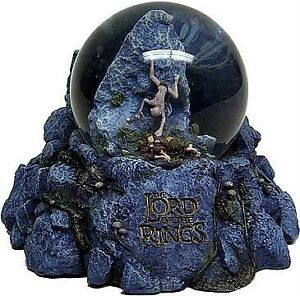 LORD-OF-THE-RINGS-LOTR-Fantasy-Movie-GOLLUM-amp-FRODO-SNOW-GLOBE-DOME-FIGURE-New