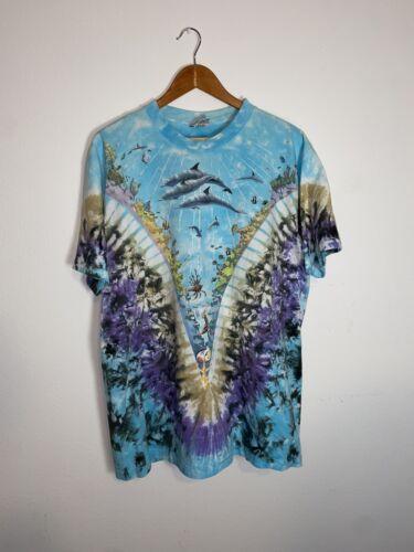 Vintage Liquid Blue Shirt Underwater Xl Tie Dye Gr