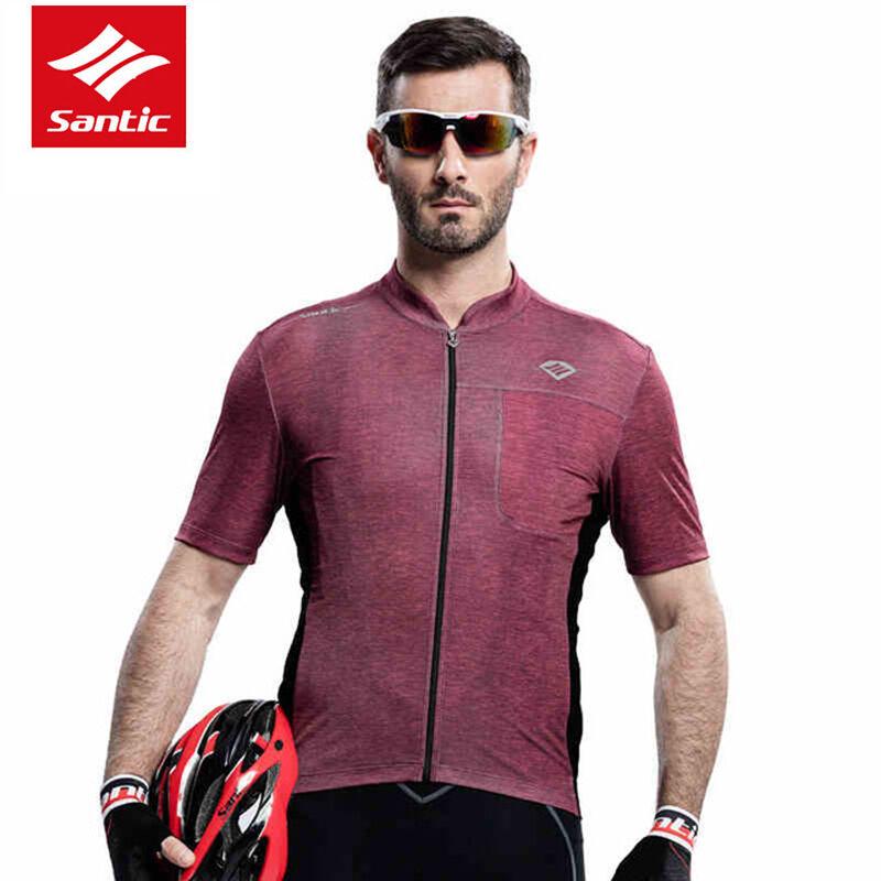 SANTIC Men's Summer Cycling Short Jersey Fast Dry UV-proof Short SleevePro New