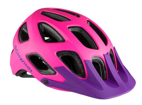 Schwinn Excursion Youth Bicycle Helmet pink purple ages 8-13