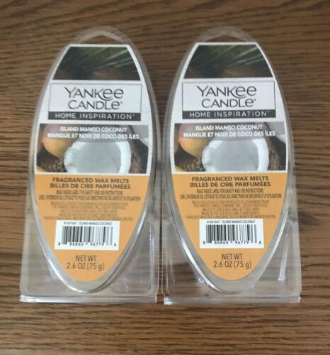 Free Shipping Yankee Candle Lot Of 2 Wax Melt Island Mango Coconut 2.6oz Ea