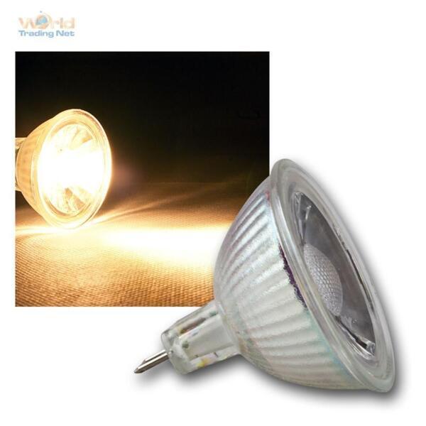 10 X Mr16 Lampada Led, 5w Cob Bianco Caldo 400lm Faretto A Pera 12v Caldo E Antivento