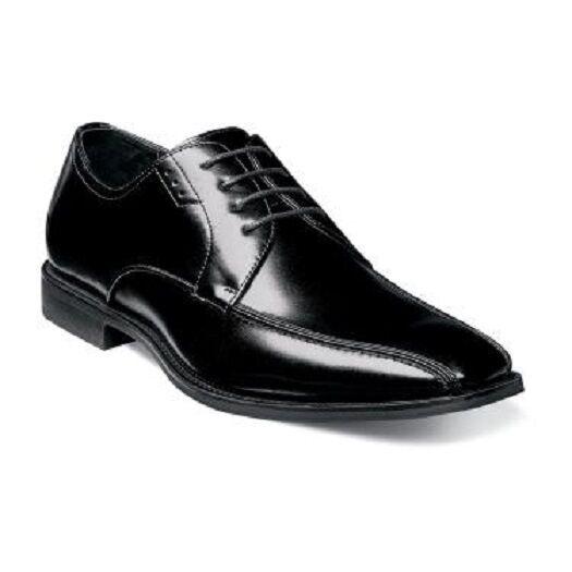prezzo all'ingrosso e qualità affidabile Stacy Adams Logan bike toe Uomo scarpe scarpe scarpe oxford nero Leather lace up 25132-001  presa di marca