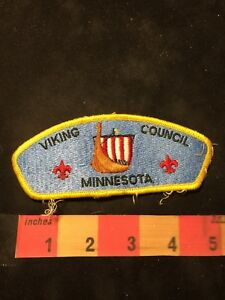 Vtg-VIKING-COUNCIL-MINNESOTA-BSA-Boy-Scouts-Patch-O89P