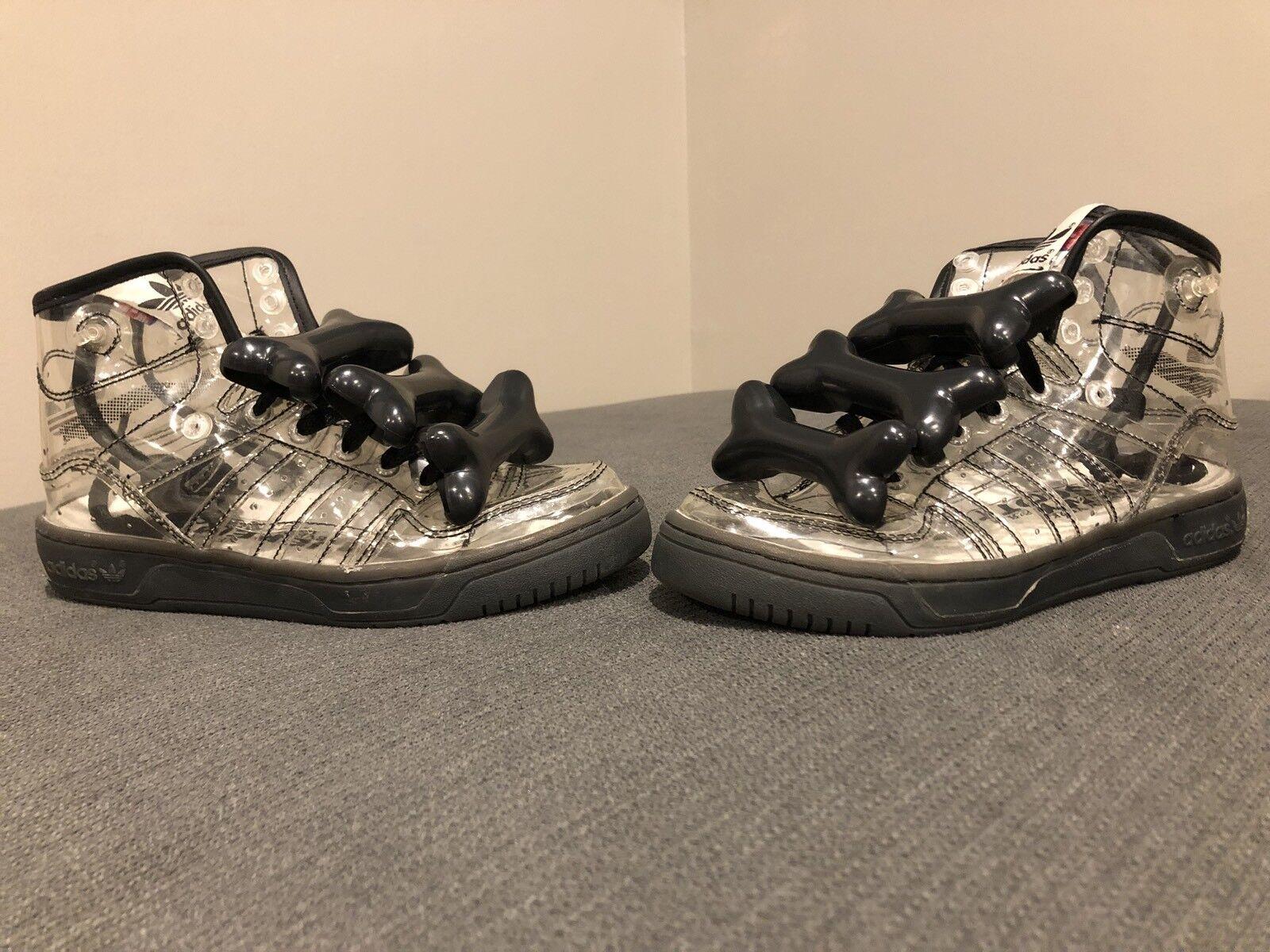 Adidas Jeremy Scott Clear Asap Rocky Bones 2.0, Size 5, RARE