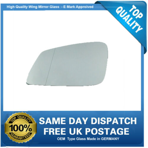 BMW 1 Series Wing Mirror Glass LEFT HAND 2013 to 2017 UK Passenger Side