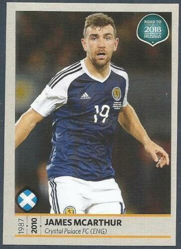 PANINI FIFA WORLD CUP-2018 ROAD TO RUSSIA #520-SCOTLAND /& PALACE-JAMES McARTHUR