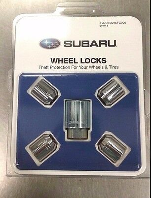 Genuine Subaru Alloy Wheel Locks - Fits All Models - Set of 4 - B321SFG000