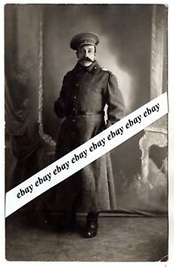 Details about 1915 WWI IMPERIAL RUSSIA RUSSIAN SOLDIER in UNIFORM ANTIQUE  STUDIO PHOTO