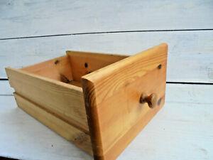 Alte-Schublade-35-x-22-x-12-cm-Holz-Deco-Regal