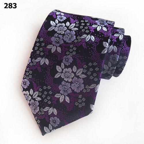 Men 8CM Wide Tie High Grade Business Flower Print Bright Color Floral Neck Ties