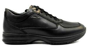 IGI-E-CO-4112700-NERO-scarpe-uomo-sneakers-pelle-camoscio-stringhe-casual-lacci