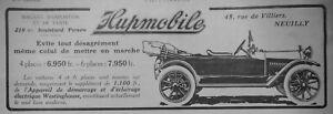 PUBLICITE-DE-PRESSE-1914-HUPMOBILE-LES-VOITURES-4-et-6-PLACES