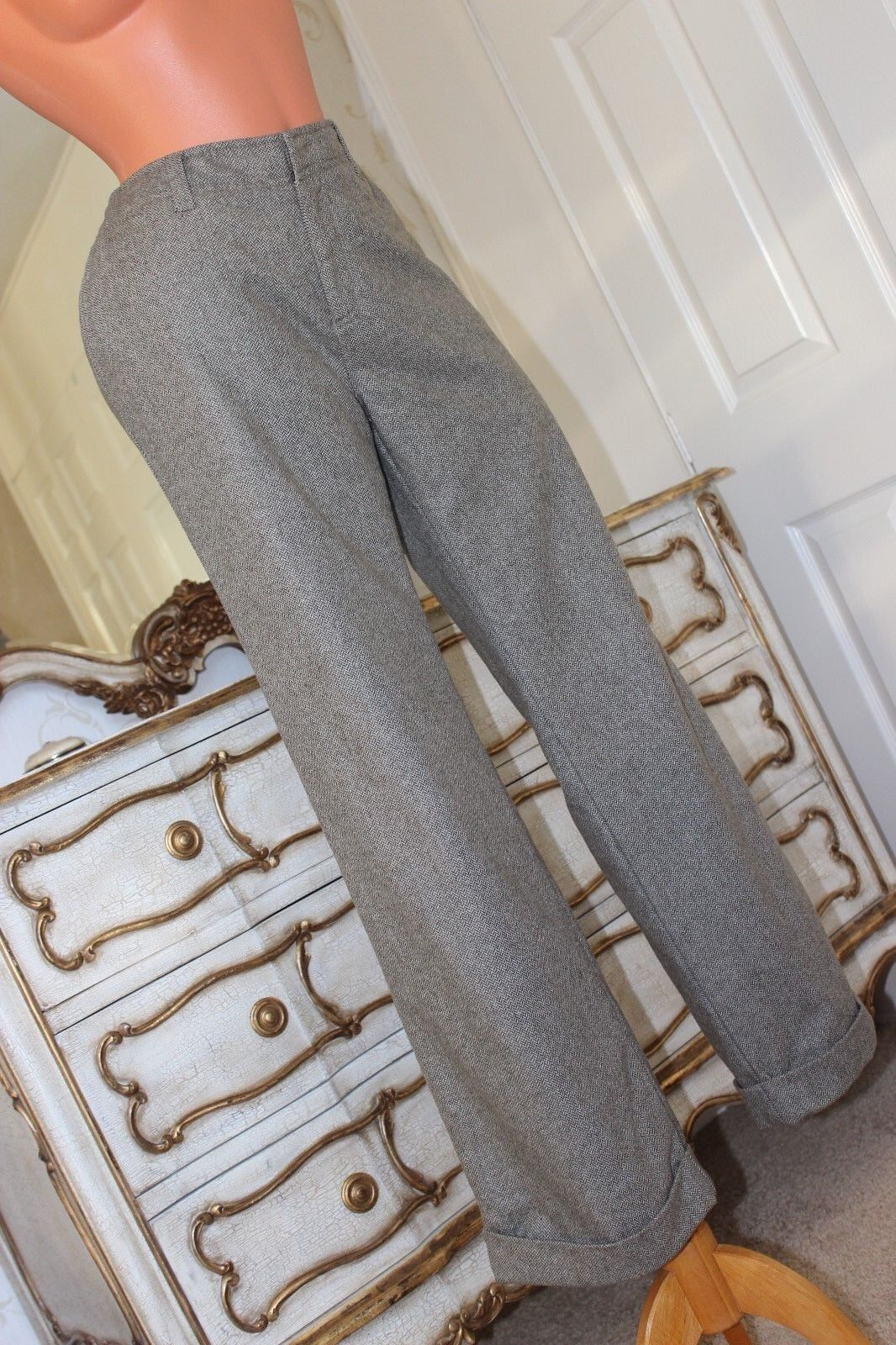 Eddie Bower  Shell patterned fully lined wool mix ladies trousers size 10