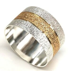 Gold-amp-Silver-Textured-Napkin-Rings-in-Sets-of-Four-Six-or-Eight