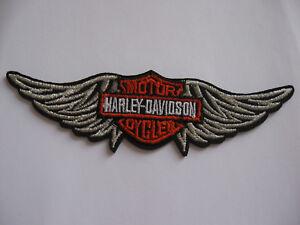 Aufnaeher-Patch-Harley-Davidson-Motorcycles-Motorcross-Motorradcross-Biker-MC-GT