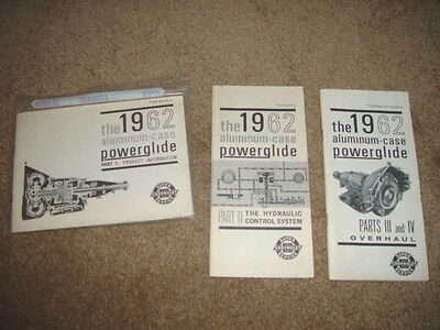 1962 Chevrolet & Corvette Aluminum Case Powerglide Factory GM Servicing Guides