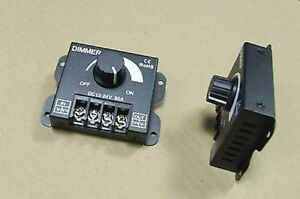 DIMMER-PER-STRISCIA-FARETTO-LED-analogico-Manuale-Rotella-30-AMPERE-12V-24V