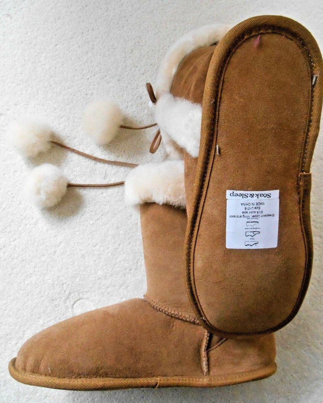 Botín de de piel de piel de de oveja remojo & Sleep tamaño 7-8 df7985