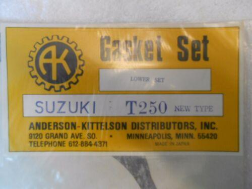 NEW LOWER GASKET SET FOR SUZUKI T250 T 250 HUSTLER