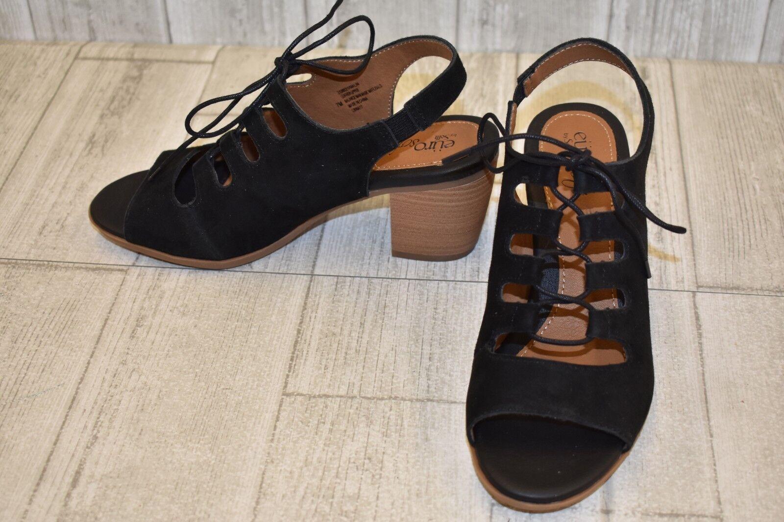 EuroSoft by Sofft Malin Heeled Sandal - Women's Size 7M - Black